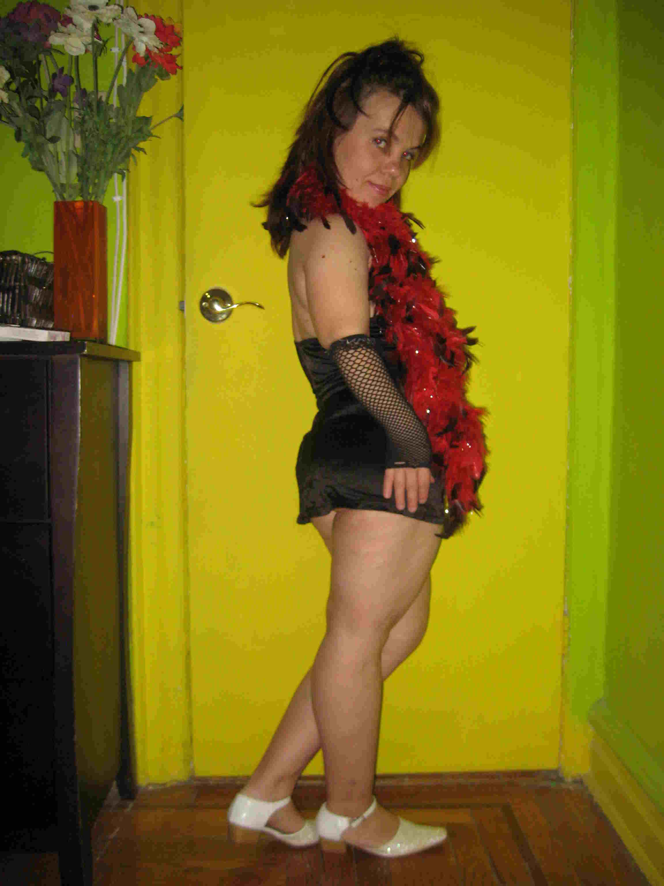 Something is. Female midget stripper